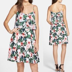 Vince Camuto Jungle Lily A- line Popover Sundress